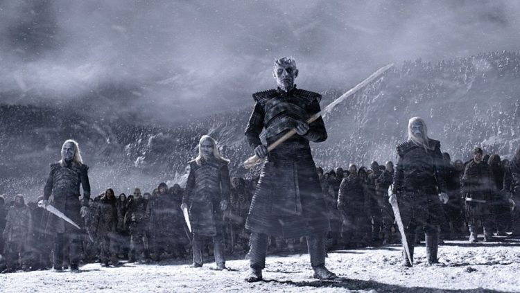 White Walkers with their army in the Land of Always Winter