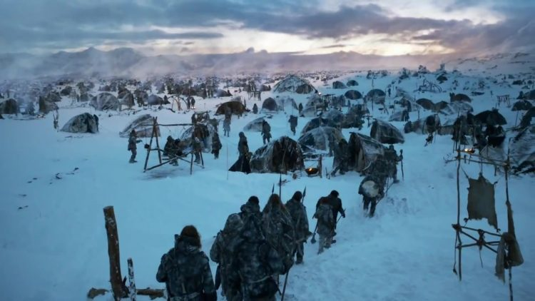 A wildling camp in the Land of Always Winter