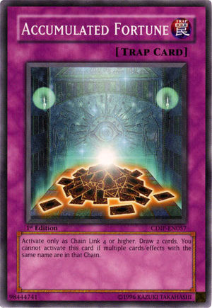 Accumulated Fortune, one of the best Yugioh chain burn cards