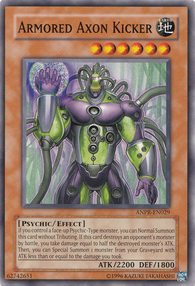 Armored Axon Kicker, one of the best Yugioh psychic type monsters
