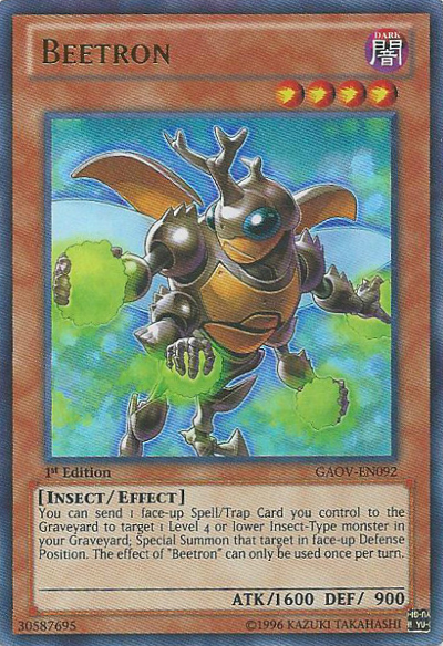 Beetron, one of the best Yugioh insect type monsters