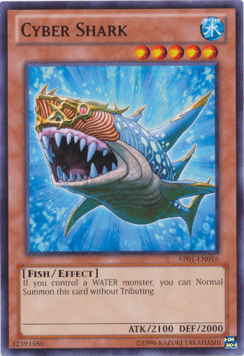 Cyber Shark, one of the best fish type monsters in Yugioh