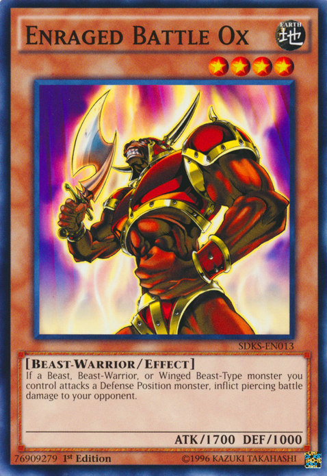 Enraged Battle Ox, one of the best beast warrior type monsters in Yugioh