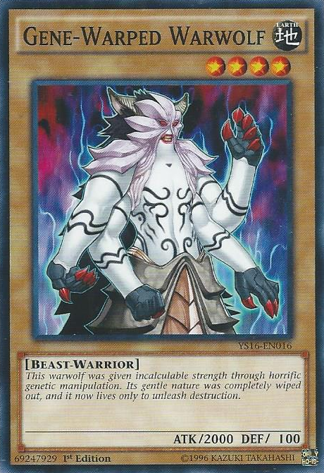 Gene-Warped Warwolf, one of the best beast warrior type monsters in Yugioh