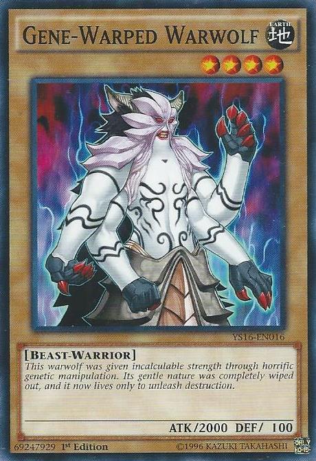 Gene-Warped Warwolf, one of the best beast warrior type monsters in Yugioh