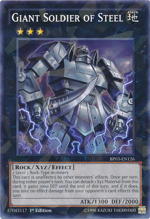 Giant Soldier of Steel, one of the best Rock type Yugioh monsters