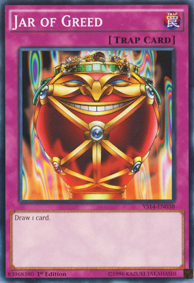 Jar of Greed, one of the best Yugioh chain burn cards