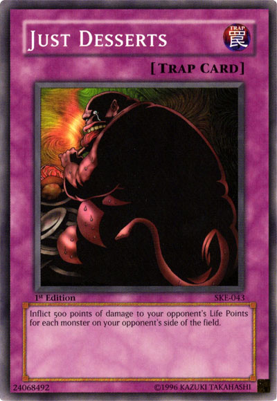 Just Desserts, the best chain burn card in Yugioh