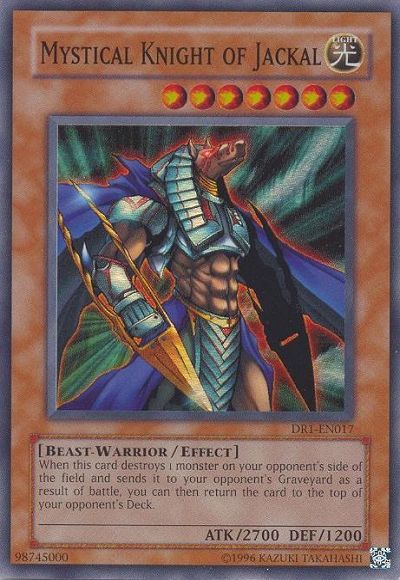 Mystical Knight of Jackal, one of the best beast warrior type monsters in Yugioh