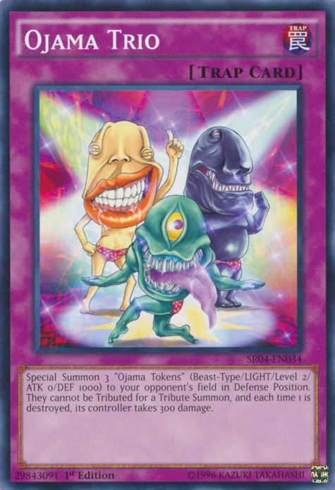 Ojama Trio, one of the best Yugioh chain burn cards