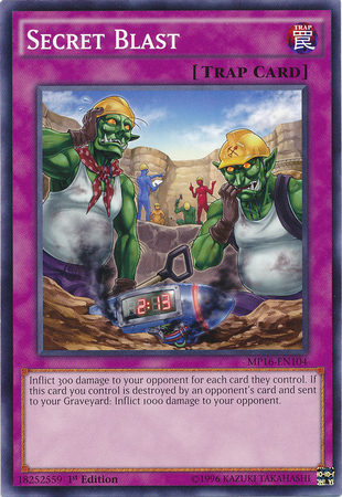Secret Blast, one of the best Yugioh chain burn cards