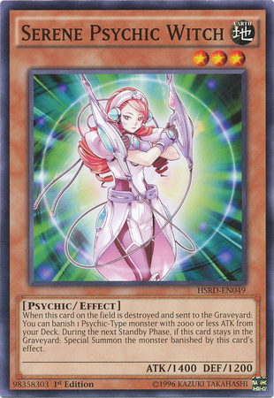 Serene Psychic Witch, one of the best Yugioh psychic type monsters