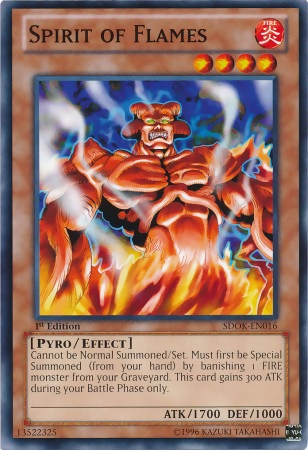 Spirit of Flames, one of the best Yugioh pyro type monsters