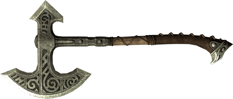 Skyforge Steel War Axe, one of the best war axes in Skyrim