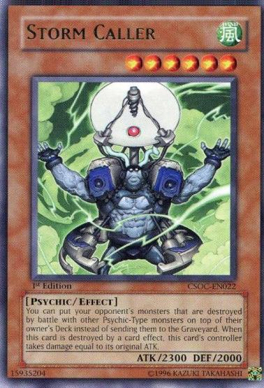 Storm Caller, one of the best Yugioh psychic type monsters