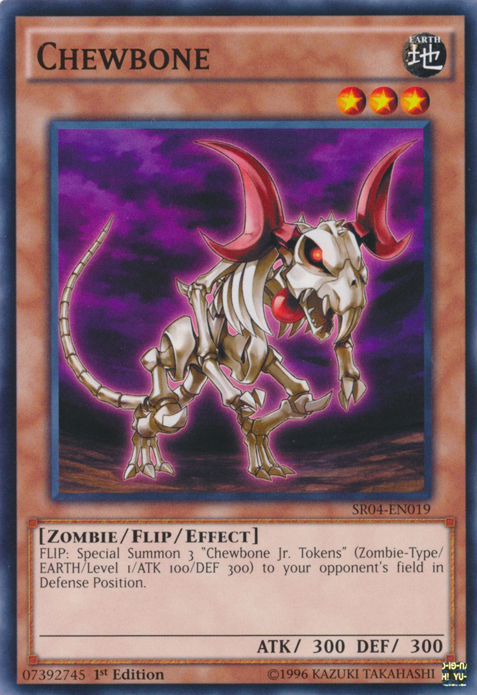 Chewbone, one of the best Yugioh zombie type monsters