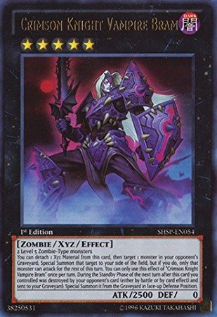 Crimson Knight Vampire Bram, one of the best Yugioh zombie type monsters