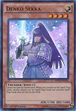 Denko Sekka, one of the best yugioh thunder type monsters