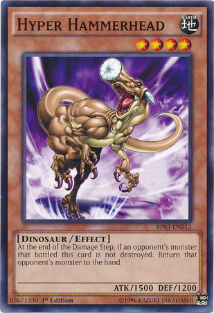 Hyper Hammerhead, one of the best yugioh dinosaur type monsters