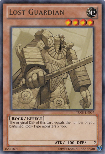 Lost Guardian, one of the best Rock type Yugioh monsters