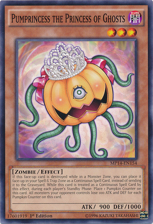 Pumprincess the Princess of Ghosts, one of the best Yugioh zombie type monsters
