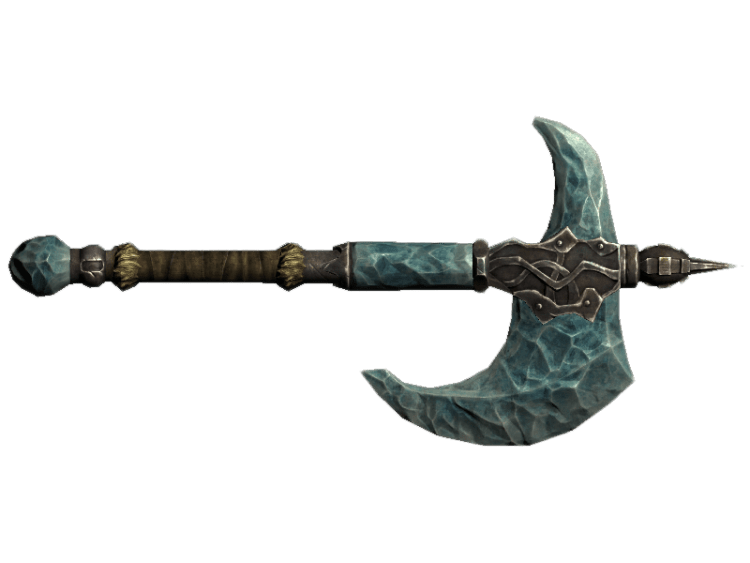 Stalhrim War Axe, one of the best war axes in Skyrim
