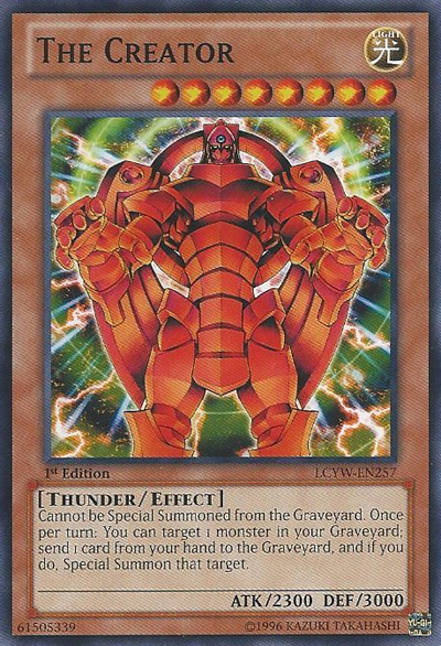 The Creator, one of the best yugioh thunder type monsters