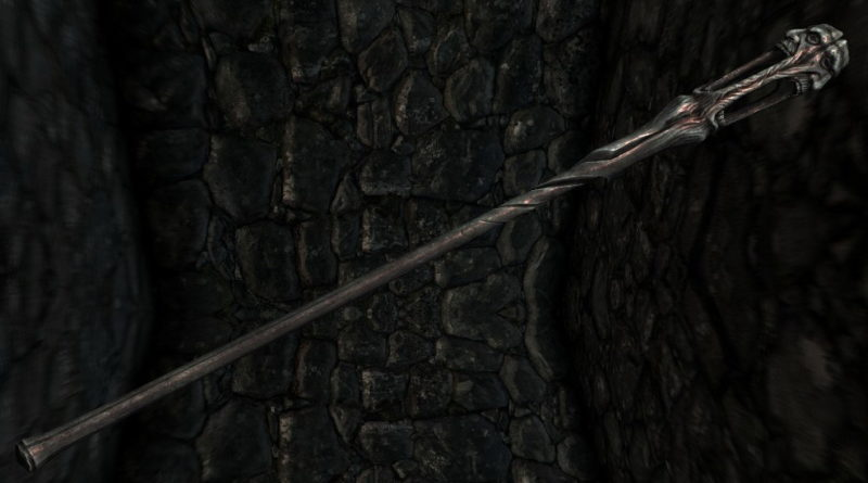 Wabbajack, one of the best staves in Skyrim