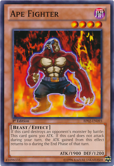 Ape Fighter, one of the best beast type monsters in Yugioh