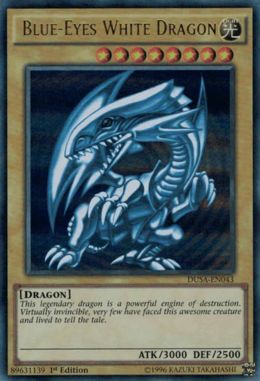 Blue-Eyes White Dragon, the most nostalgic Yugioh card