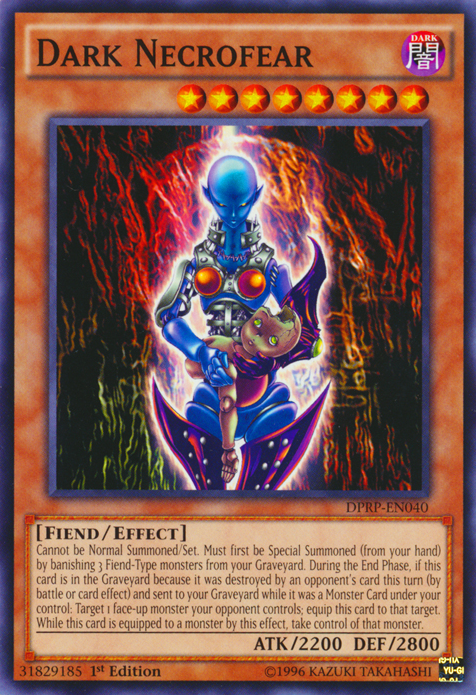 Dark Necrofear, one of the best fiend type monsters in Yugioh