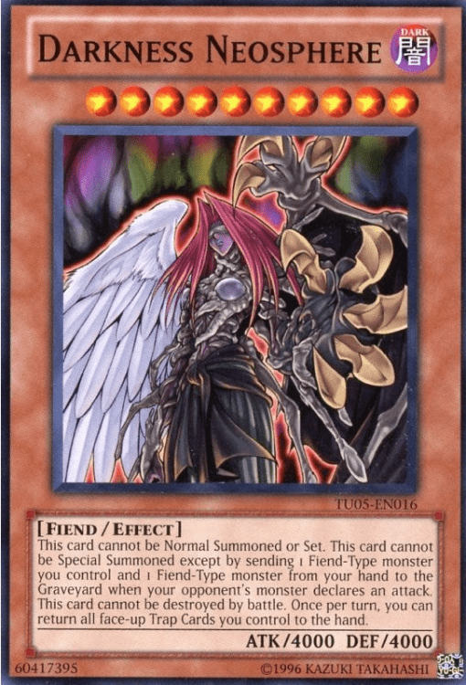 Darkness Neosphere, one of the best fiend type monsters in Yugioh