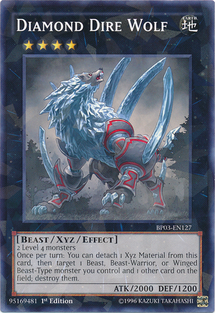 Diamond Dire Wolf, one of the best beast type monsters in Yugioh