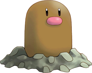 Diglett, one of the most bizarre Pokemon