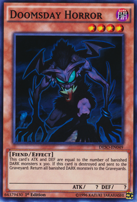 Doomsday Horror, one of the best fiend type monsters in Yugioh