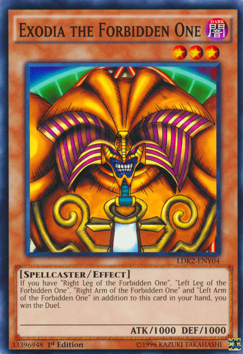 Exodia the Forbidden One, one of the most nostalgic Yugioh cards