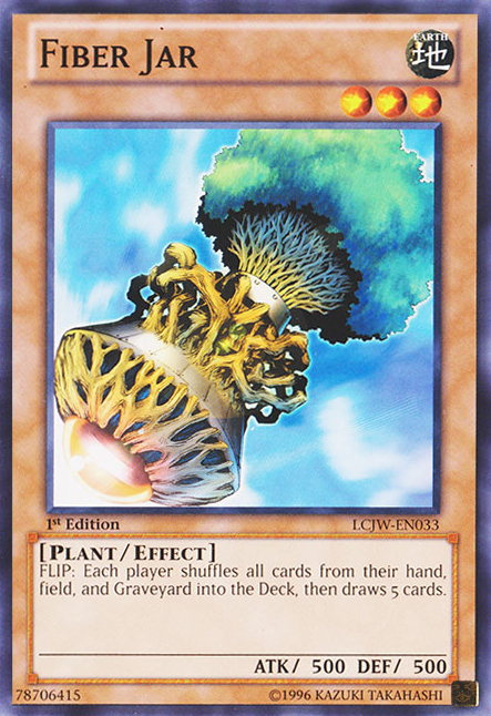 Fiber Jar, one of the best banned cards in Yugioh