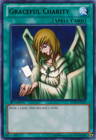 Graceful Charity, one of the best banned cards in Yugioh