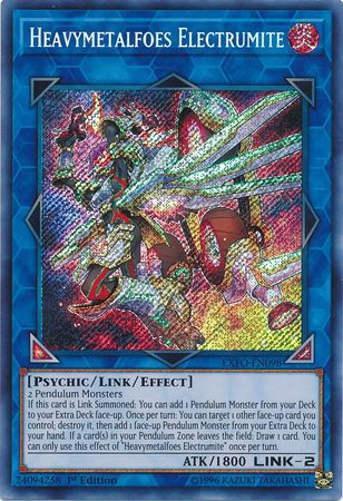 Heavymetalfoes Electrumite, one of the best Link monsters in Yugioh