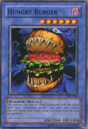 Hungry Burger, a bizarre Yugioh card