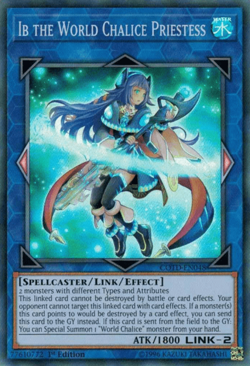 Ib the World Chalice Priestess, one of the best Link monsters in Yugioh
