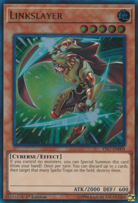 Linkslayer, one of the best cyberse type Yugioh monsters