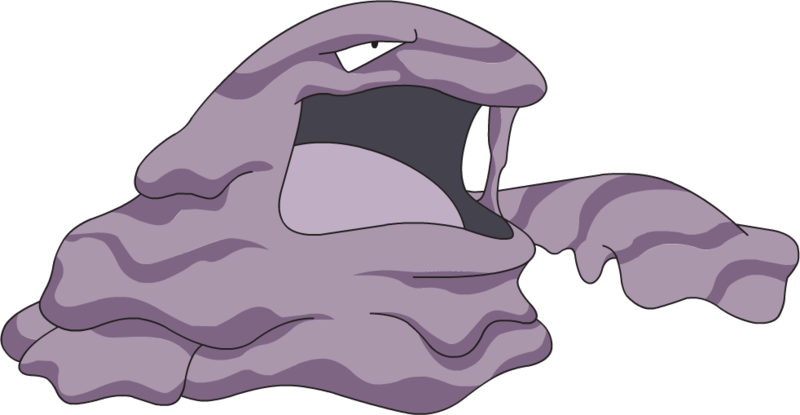 Muk, one of the most bizarre Pokemon