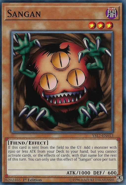 Sangan, one of the best fiend type monsters in Yugioh