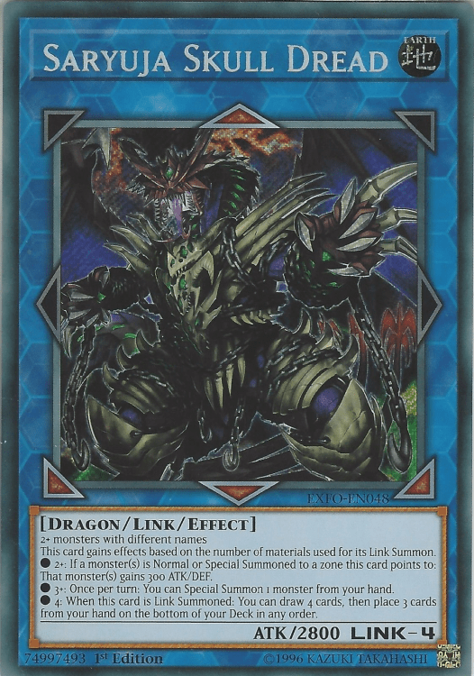 Saryuja Skull Dread, one of the best Link monsters in Yugioh