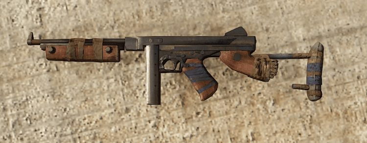 Thompson, the 10th best weapon in Rust