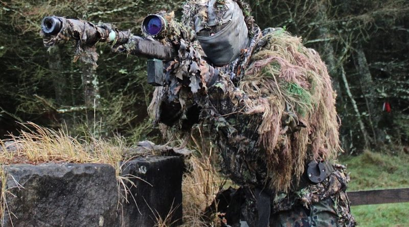 An airsoft sniper, stealthy and deadly