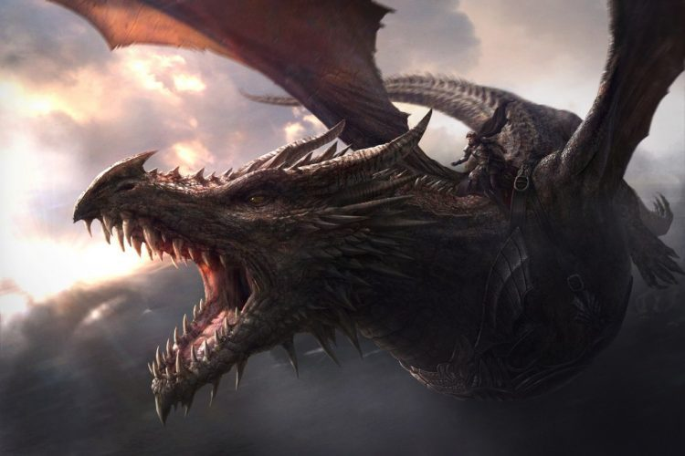 Balerion, the biggest dragon ever seen or heard of in Game of Thrones