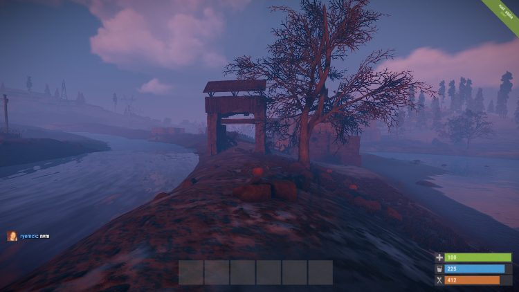 A base protected by water in Rust