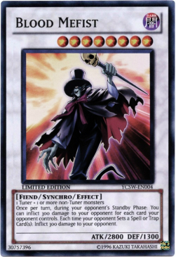 Blood Mefist, one of the best fiend type monsters in Yugioh